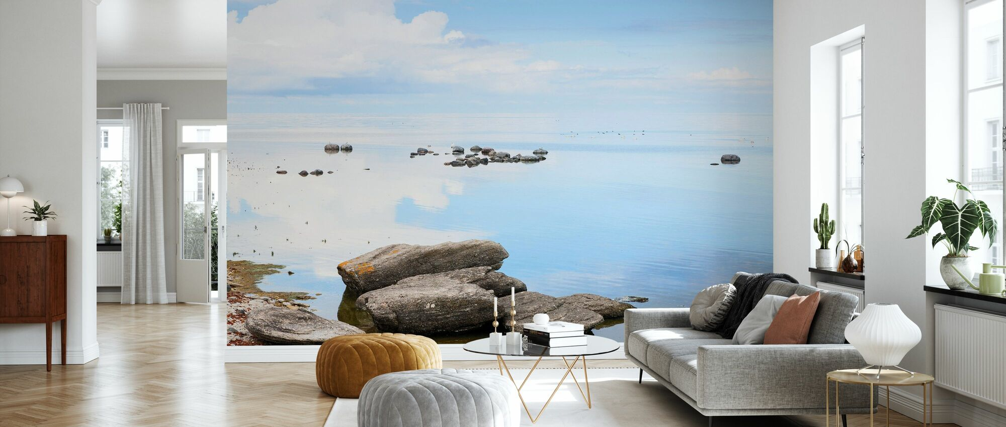 Sunny day at the coast of Gotland - Wallpaper - Living Room