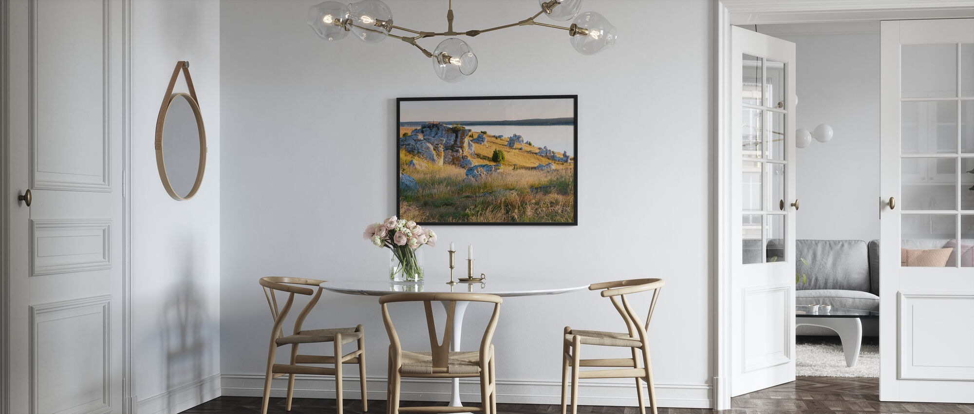 Nice Lights over the Rocks - Framed print - Kitchen