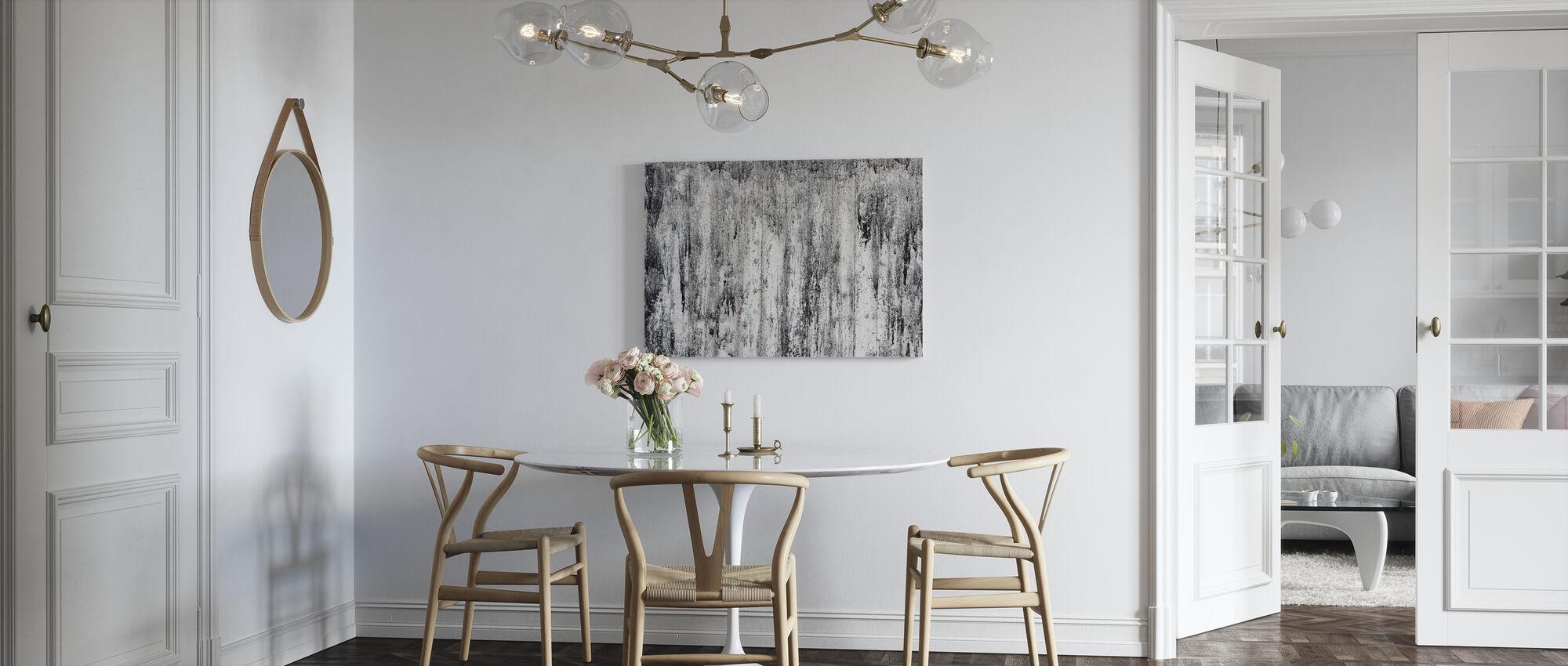 Black Cement Wall - Canvas print - Kitchen
