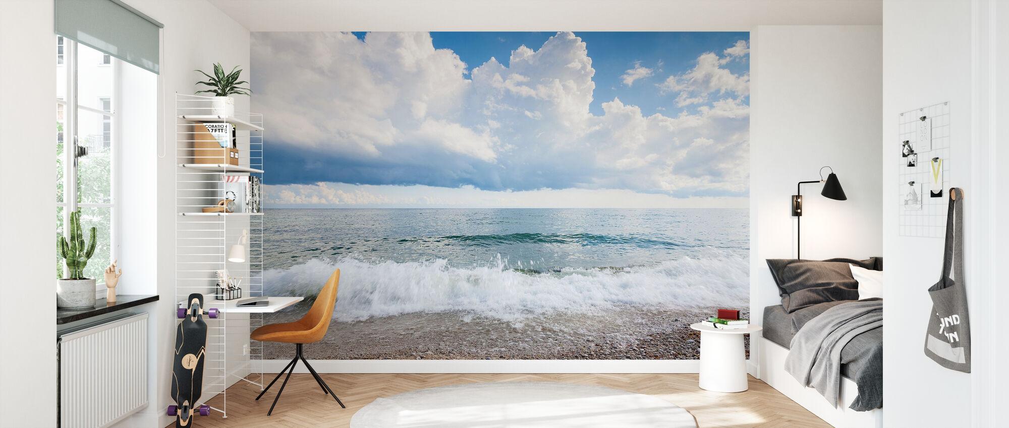 White Waves - Wallpaper - Kids Room