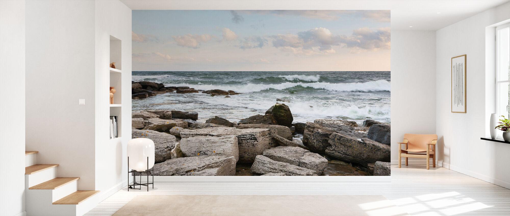 Stone Blocks - Wallpaper - Hallway