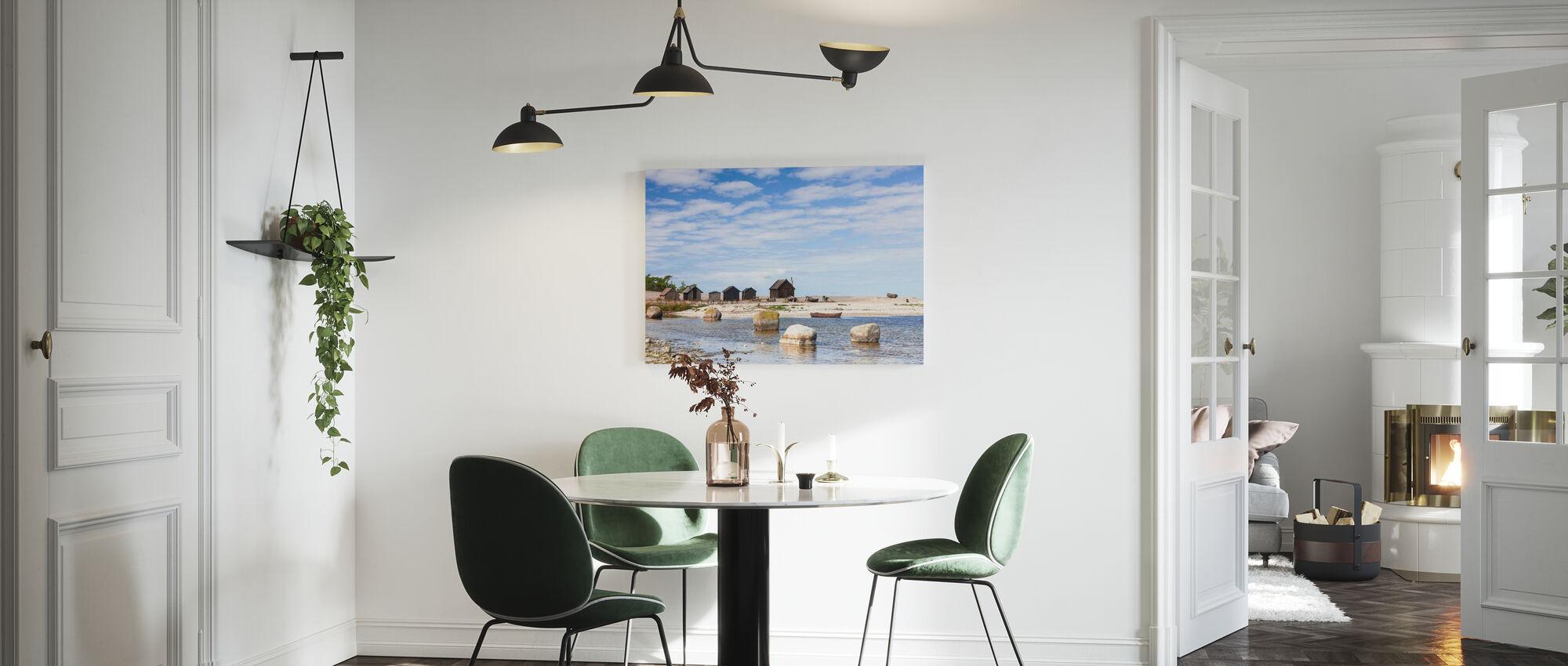 Old Fishing Huts - Canvas print - Kitchen