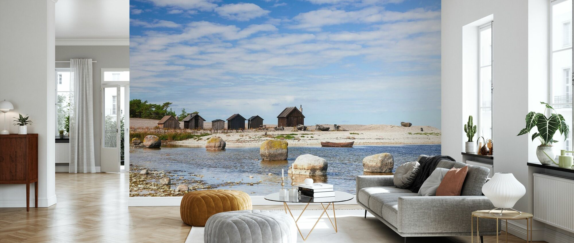 Old Fishing Huts - Wallpaper - Living Room