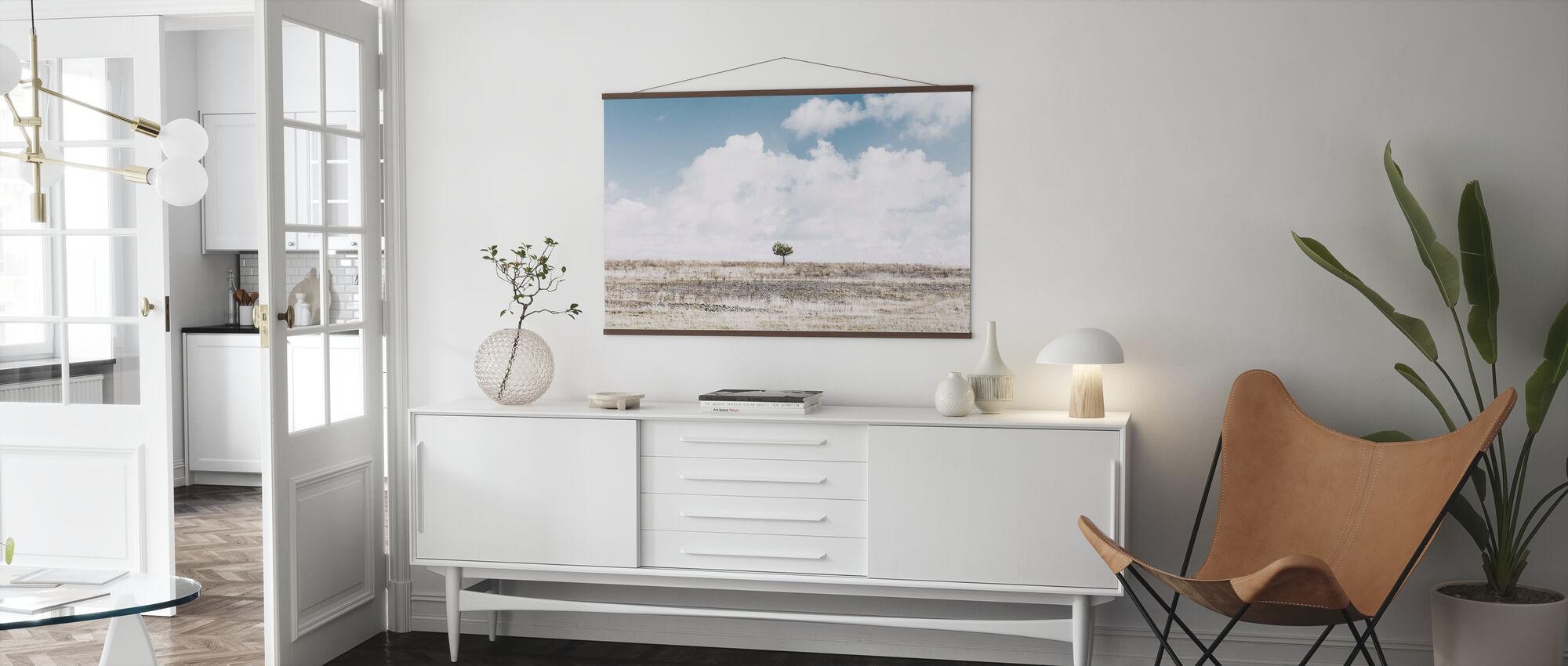Allein Baum - Poster - Wohnzimmer