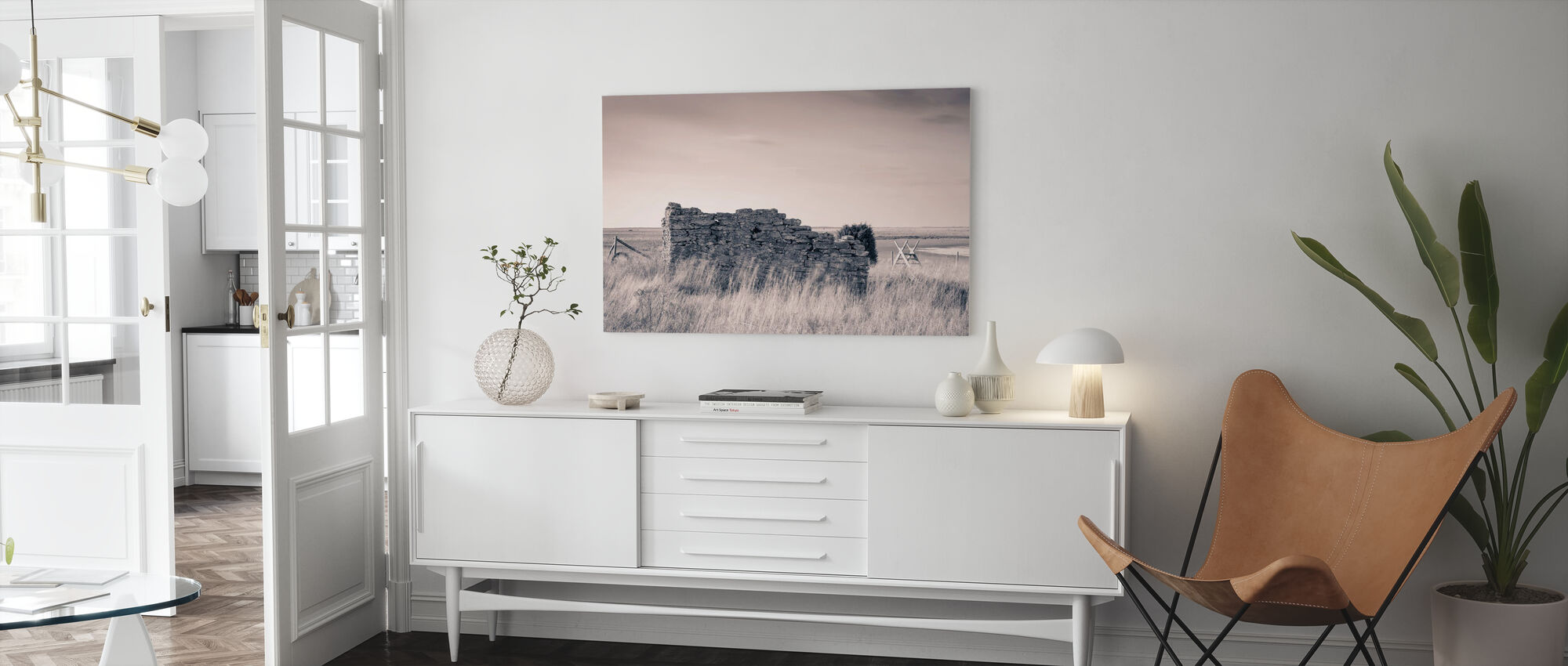 Old Ruin House - Canvas print - Living Room