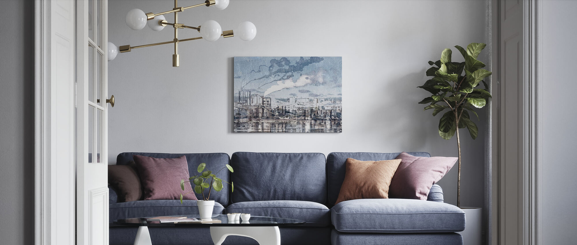 Industry - Canvas print - Living Room