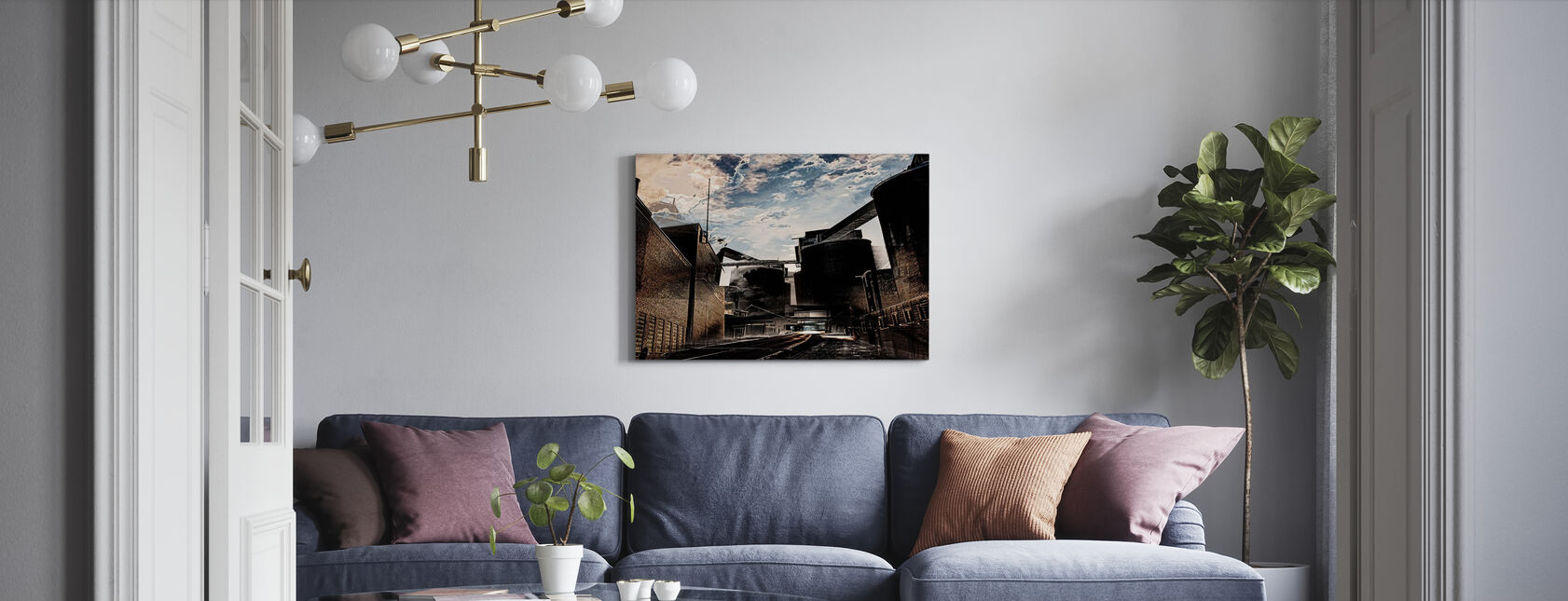 Dramatic Industry - Canvas print - Living Room