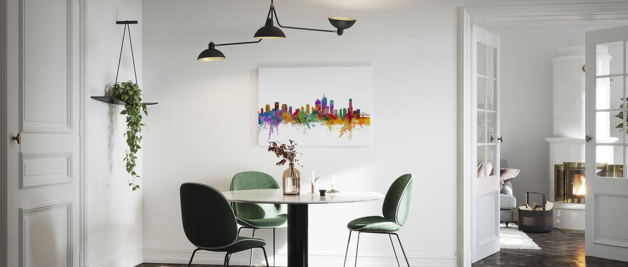 Brisbane Skyline - Canvas print - Kitchen