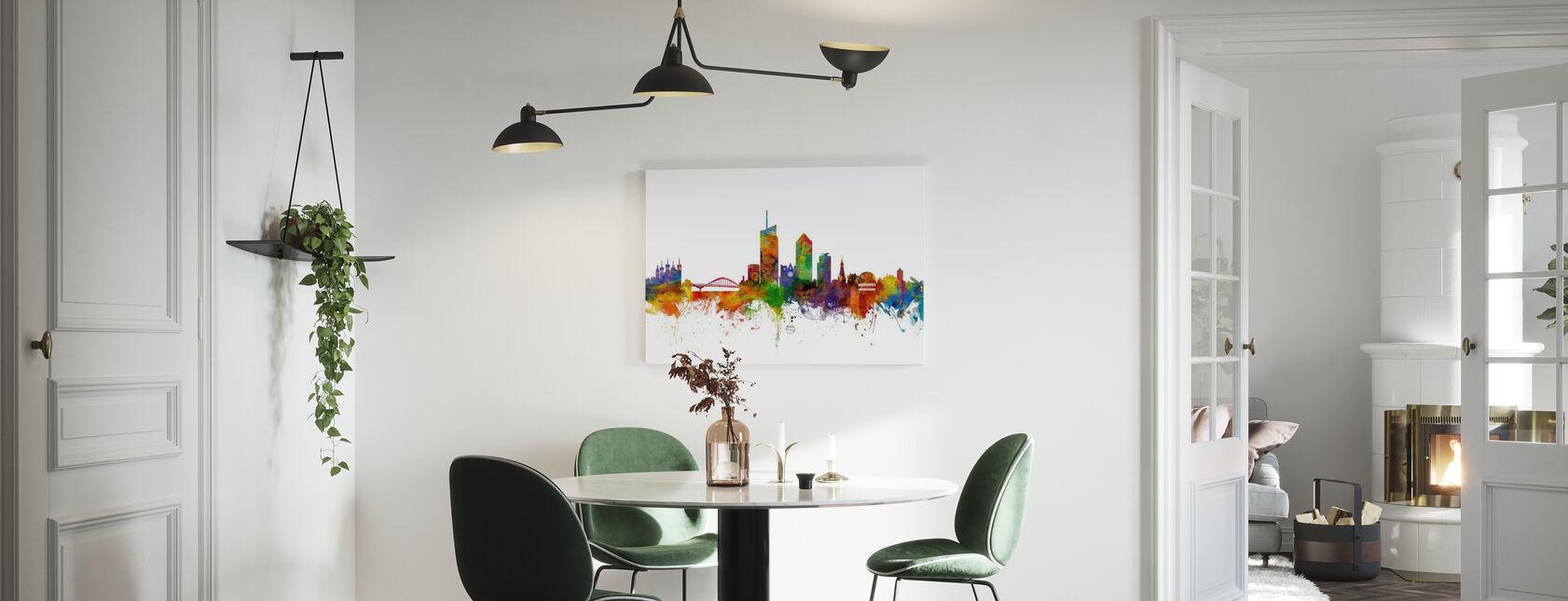 Skyline de Lyon - Impression sur toile - Cuisine