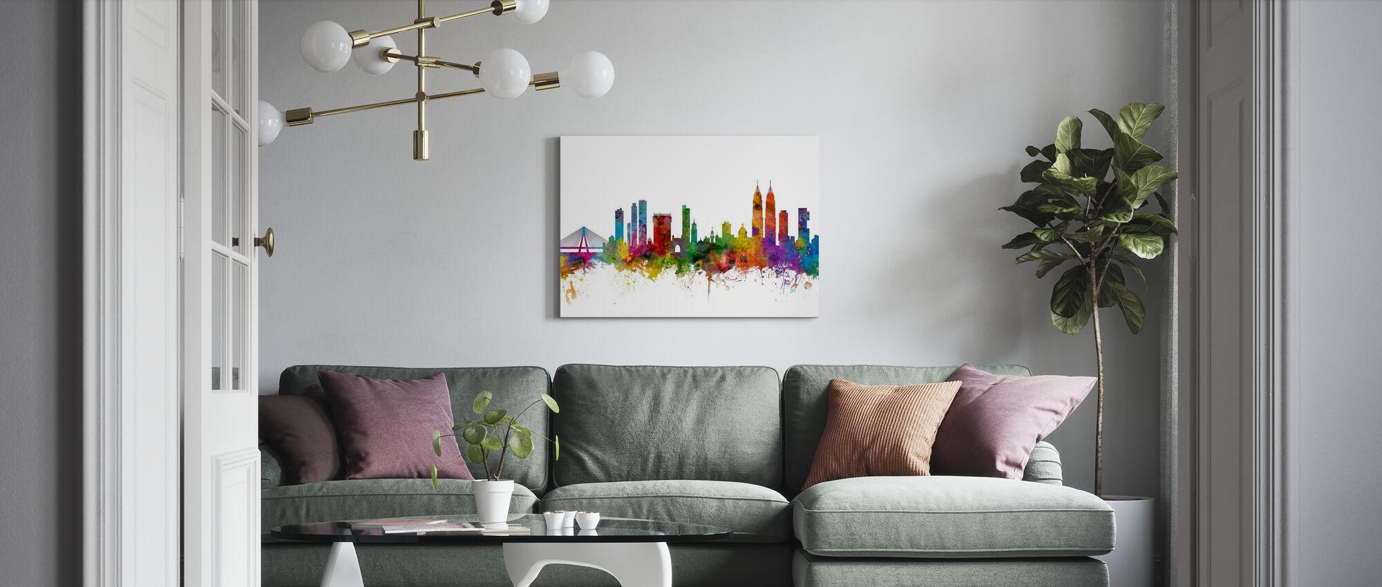 Mumbai (Bombay) Skyline - Canvas print - Living Room