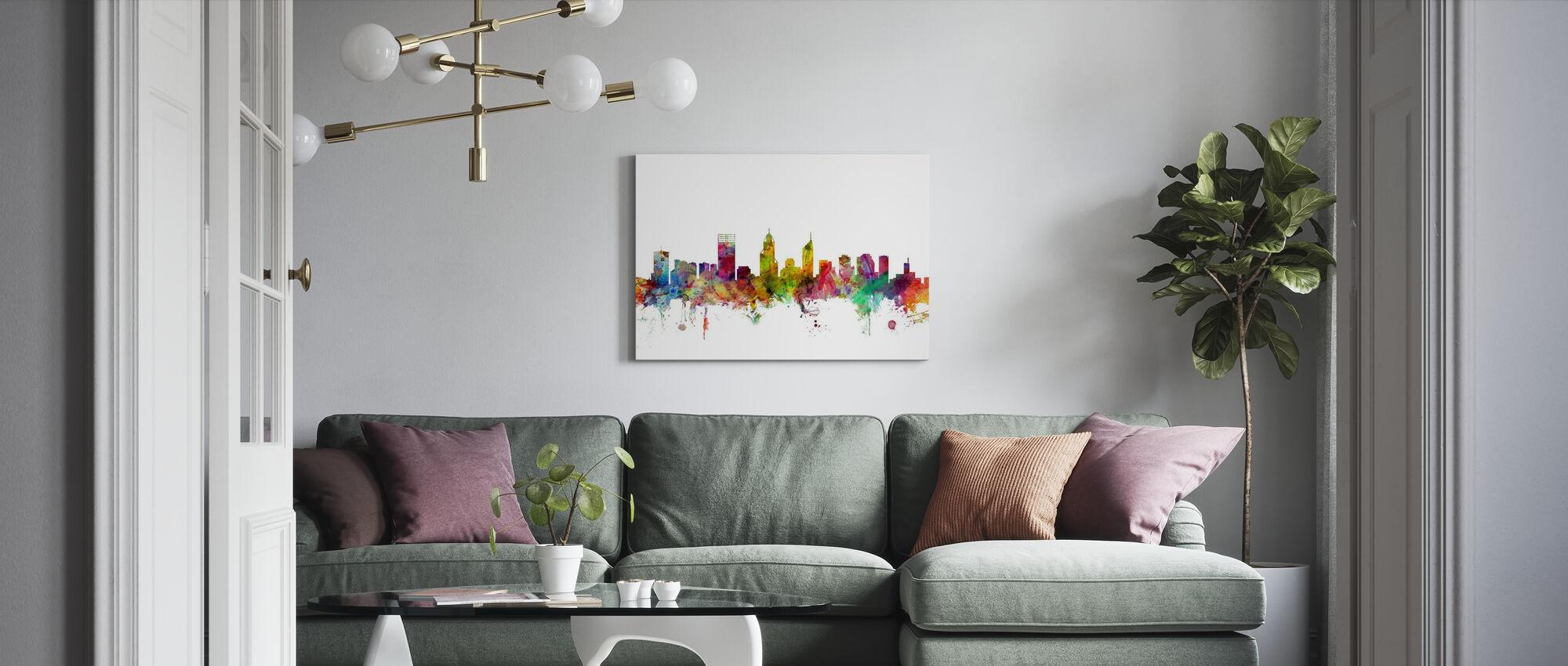 Perth Skyline - Canvas print - Living Room