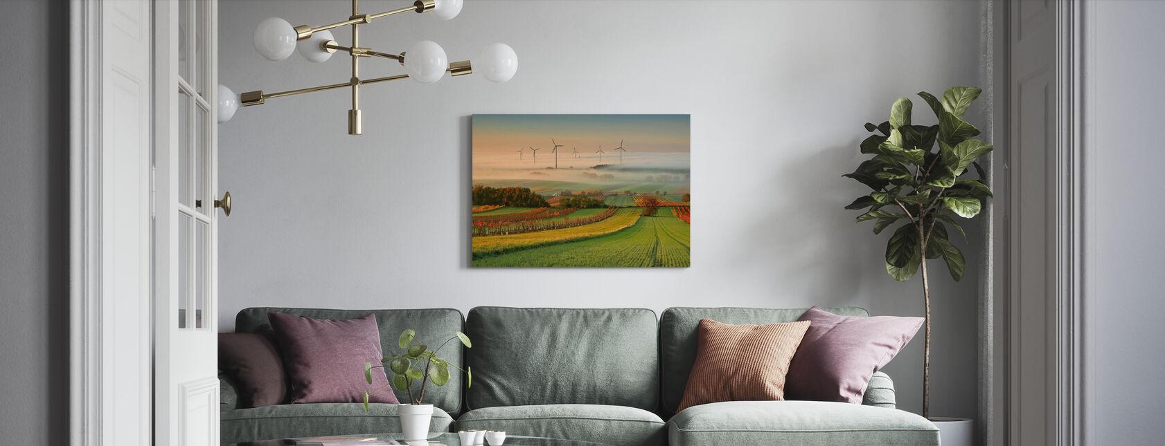 Autumn Atmosphere in Vineyards - Canvas print - Living Room