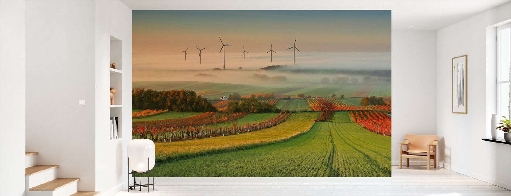 Autumn Atmosphere in Vineyards - Wallpaper - Hallway