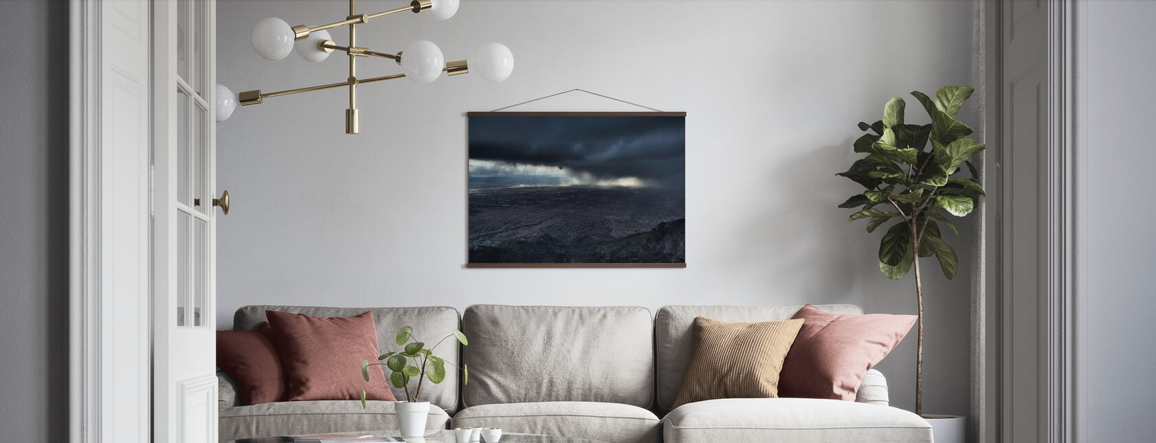 Storm over Alburquerque - Poster - Woonkamer