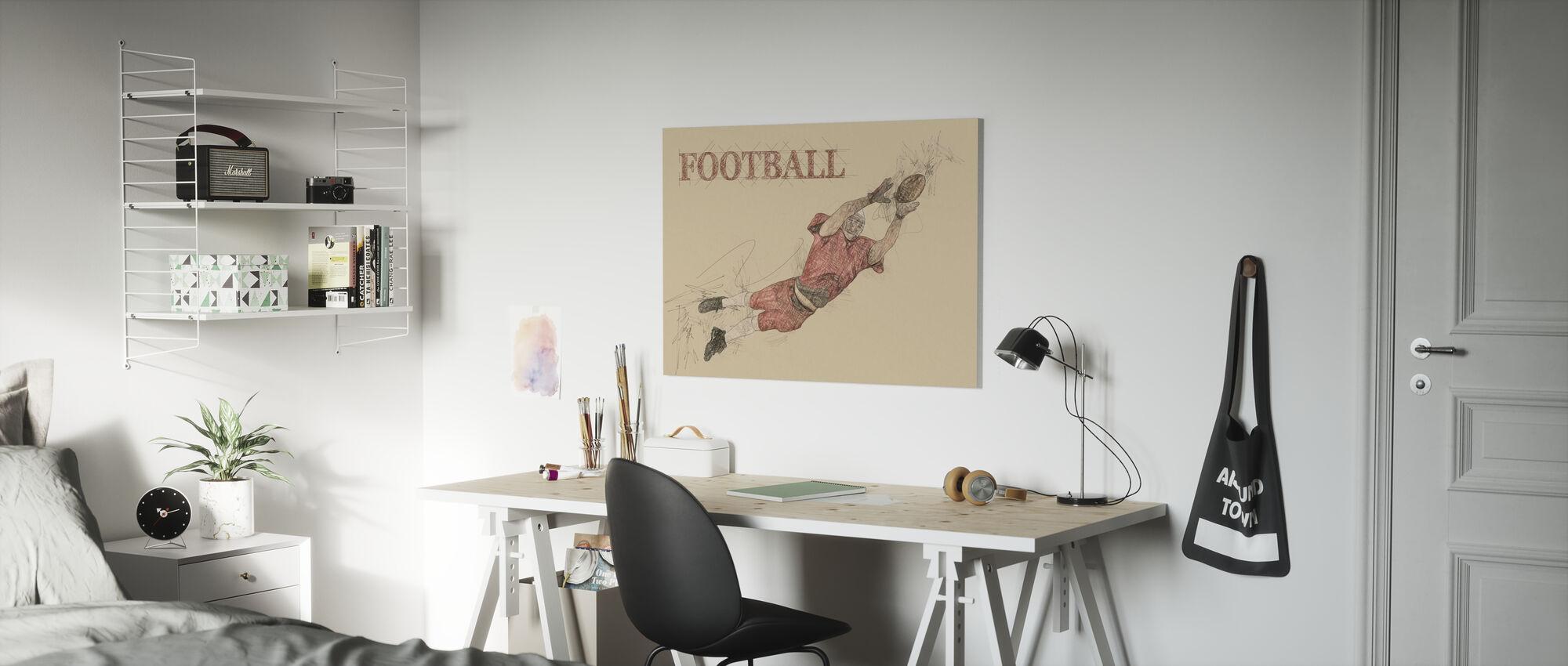 Football - Impression sur toile - Chambre des enfants
