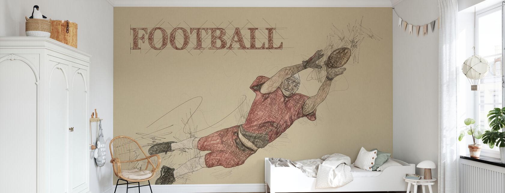 Football - Wallpaper - Kids Room
