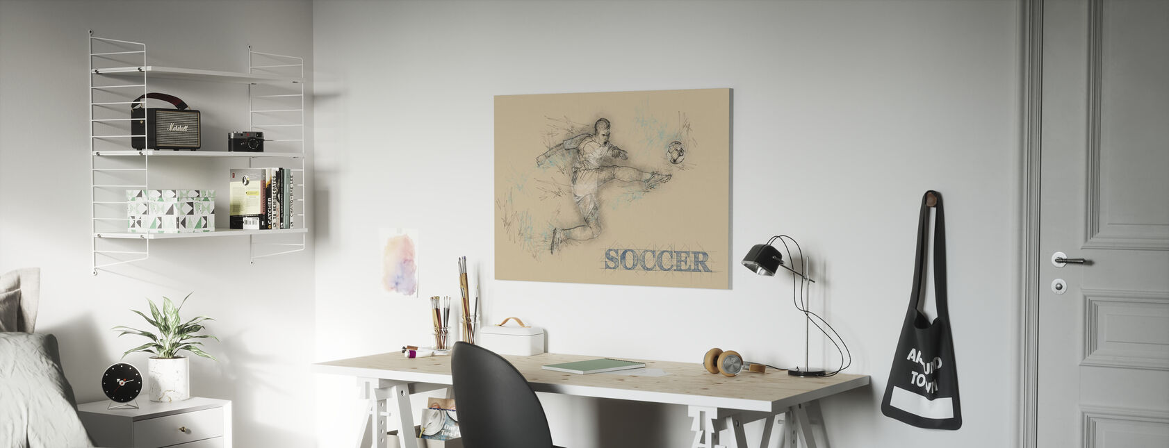 Fodbold - Billede på lærred - Børneværelse