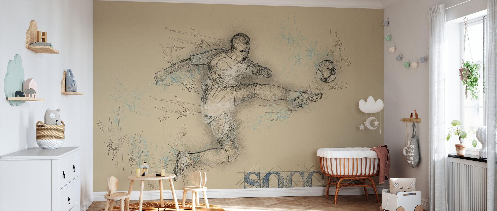 Soccer - Wallpaper - Nursery