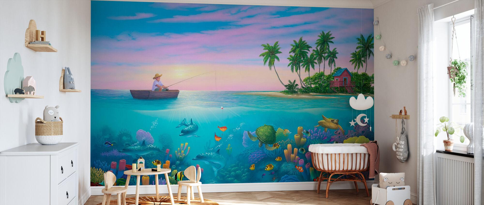 Fishing in Paradise - Wallpaper - Nursery