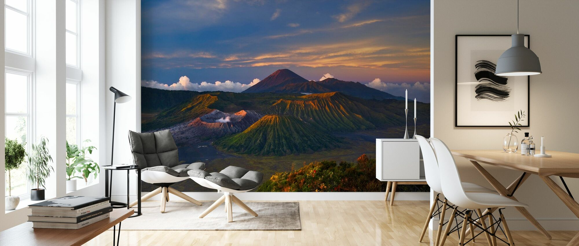 Volcano Dawn - Wallpaper - Living Room