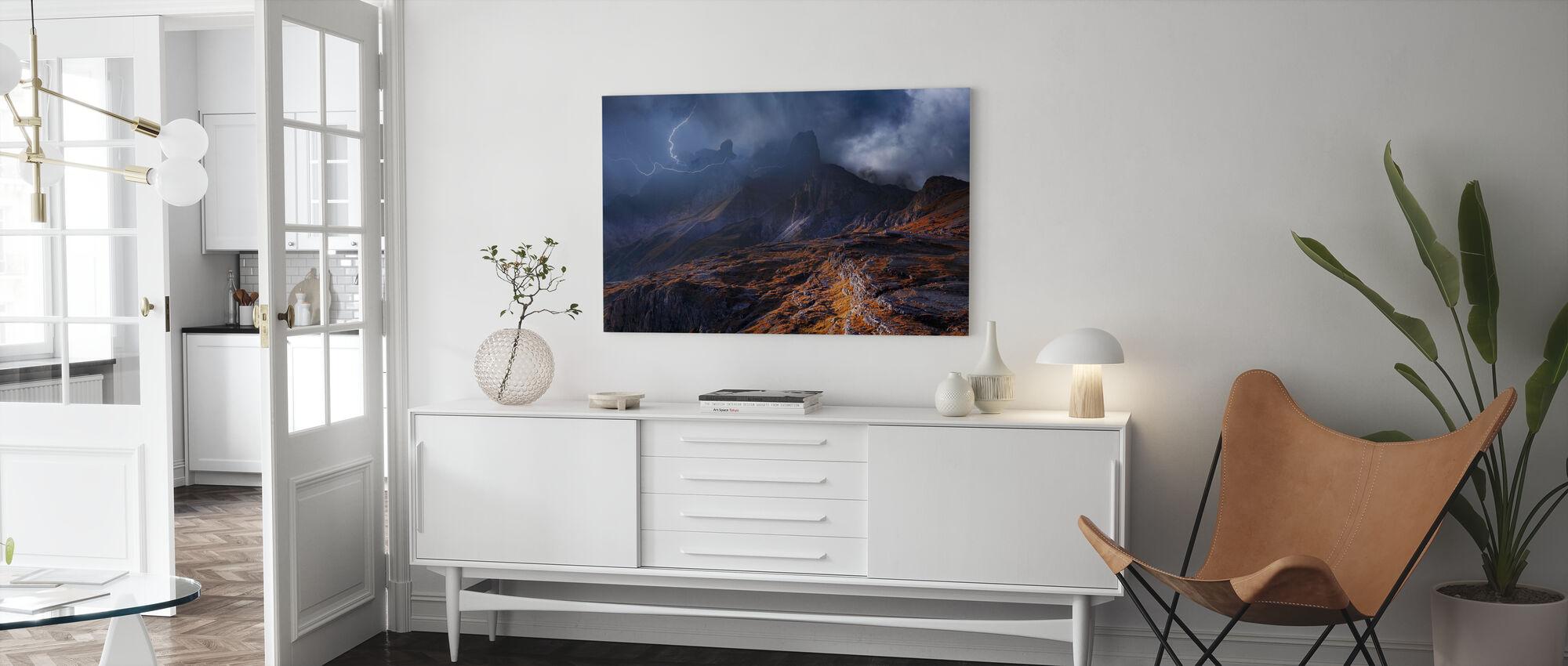 Mountain weer - Canvas print - Woonkamer