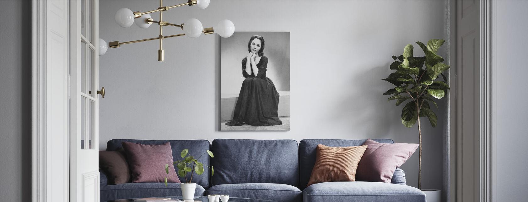 Askepott 1957 - Lerretsbilde - Stue
