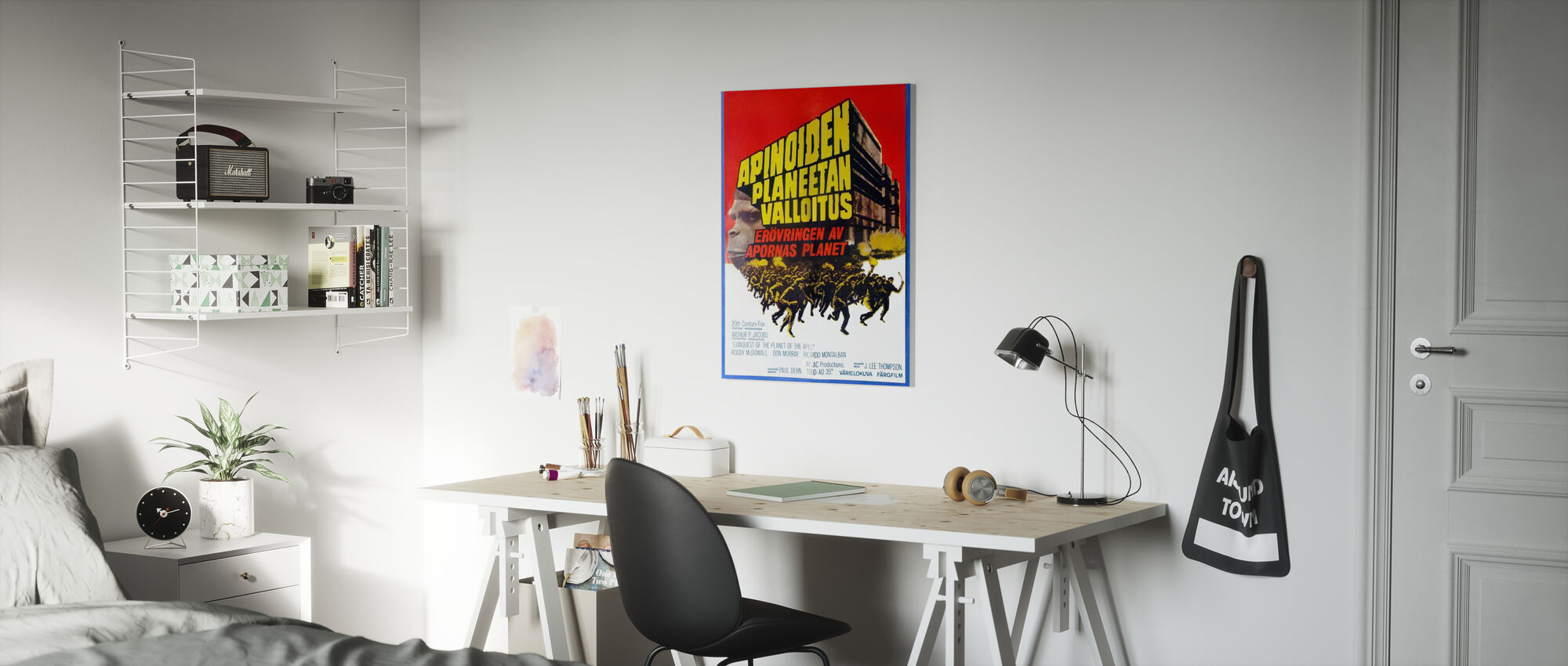Conquest of the Planet of the Apes - Finnish Movie Poster - Canvas print - Kids Room