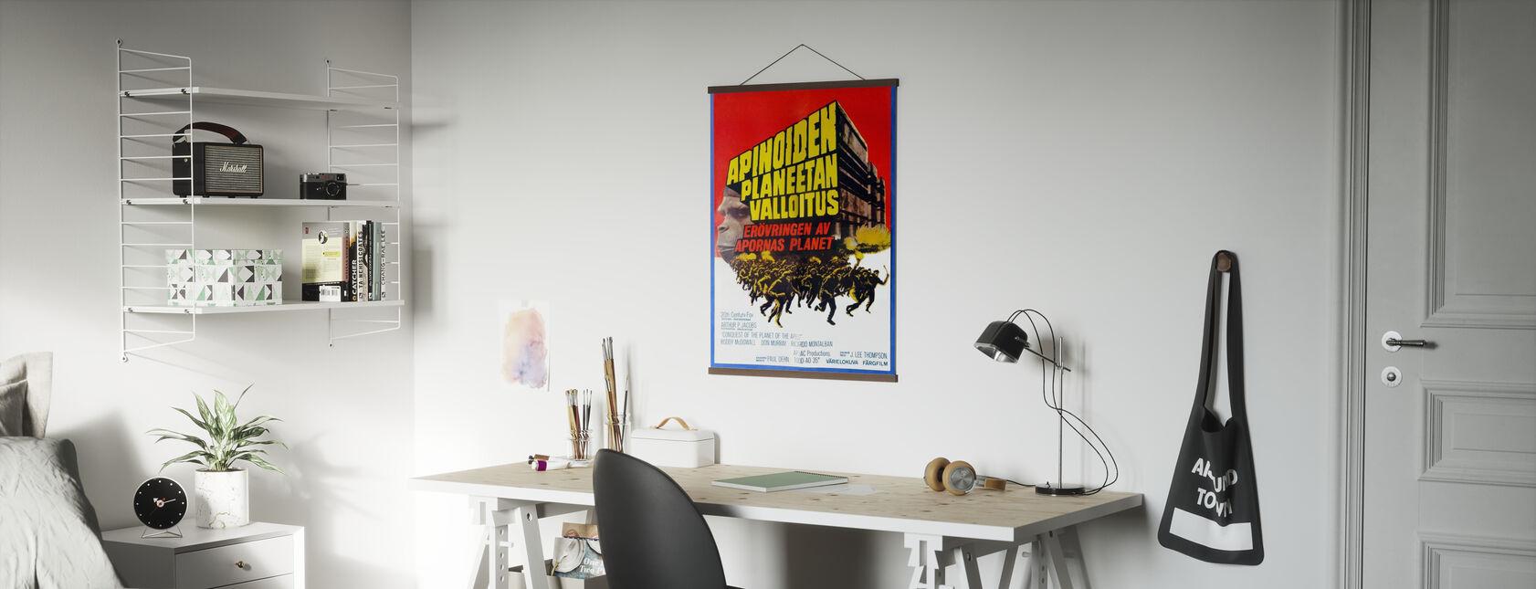 Conquista del pianeta delle scimmie - Poster cinematografico finlandese - Poster - Uffici