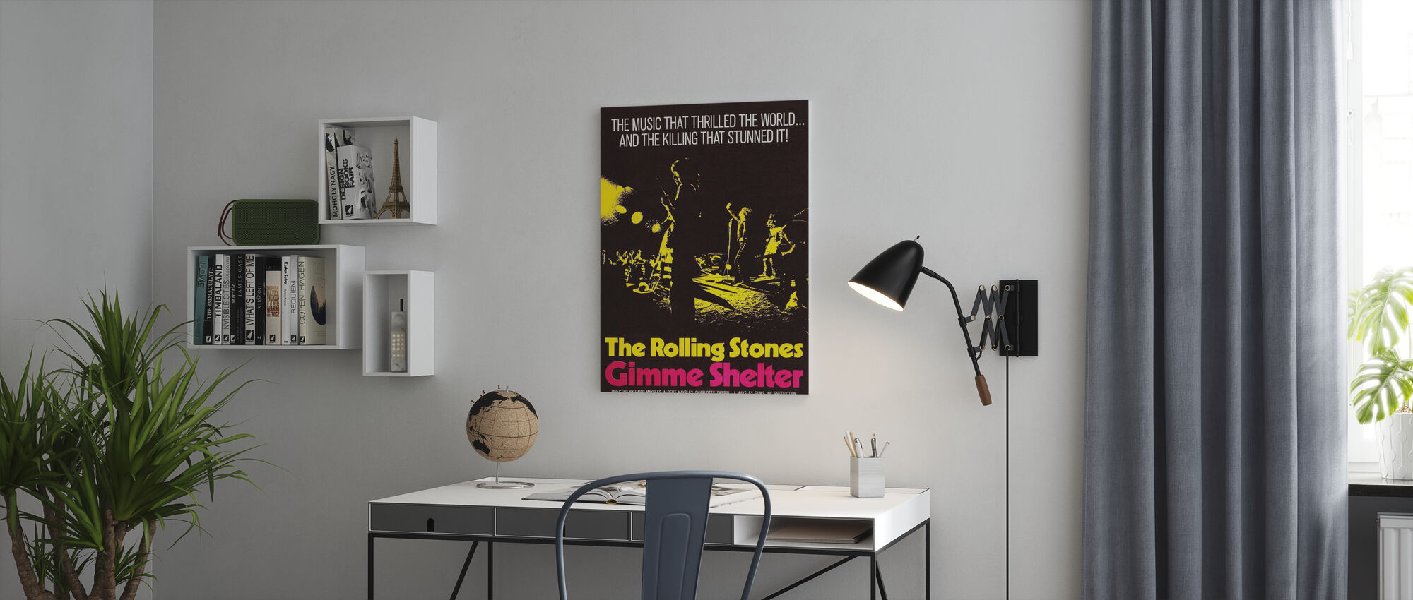 Gimme Shelter Poster Art - Canvas print - Office