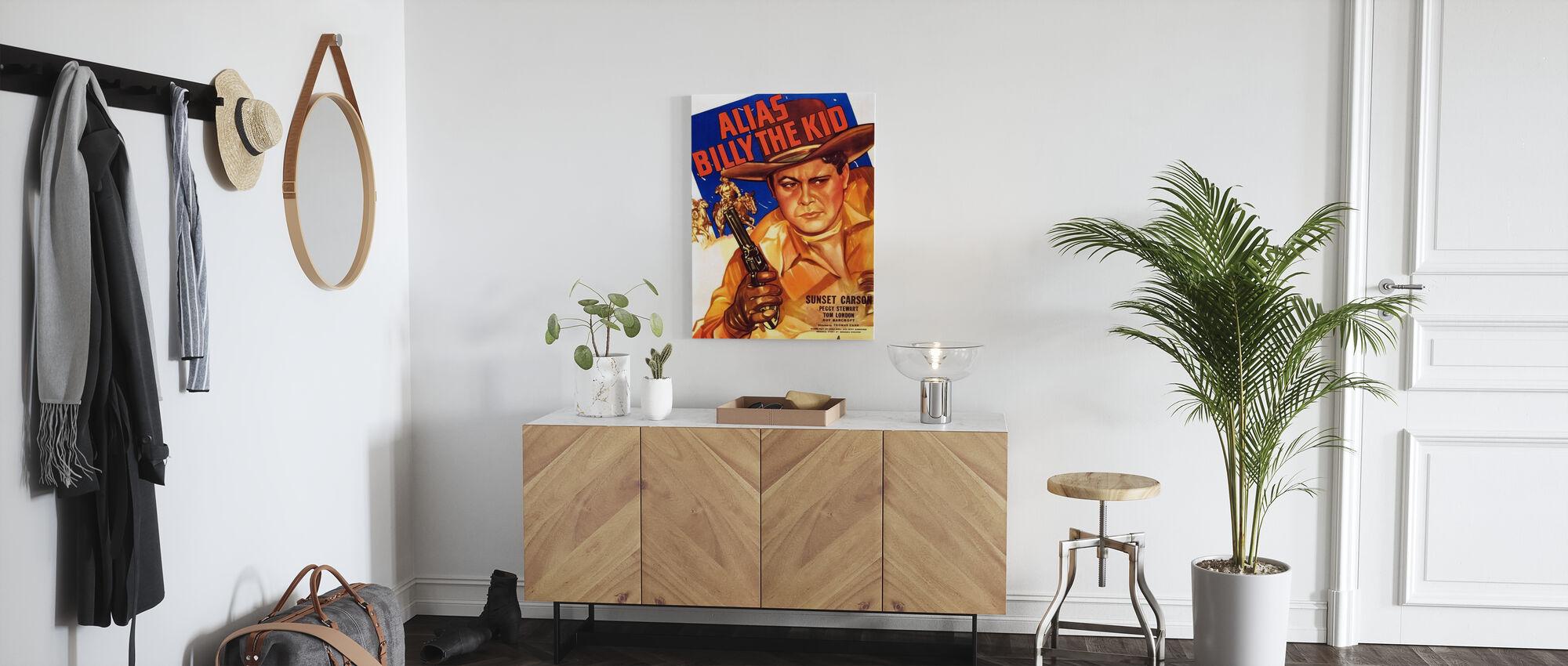 Movie Poster Alias Billy the Kid - Canvas print - Hallway