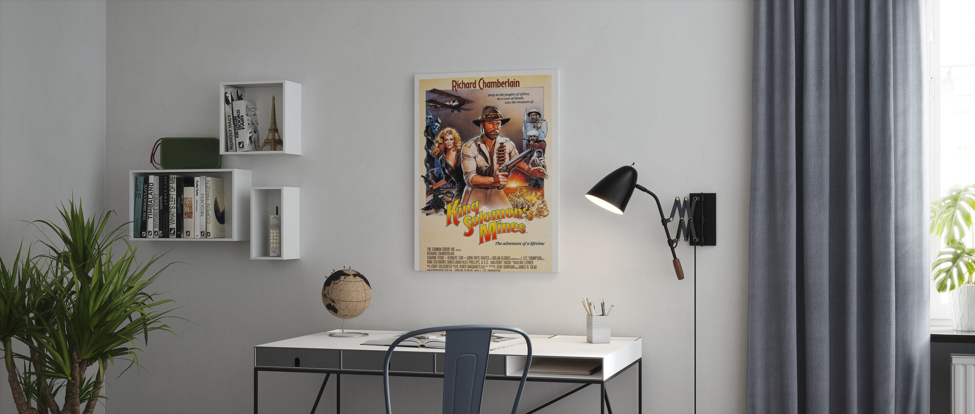 Movie Poster King Solomon´s Mines - Canvas print - Office