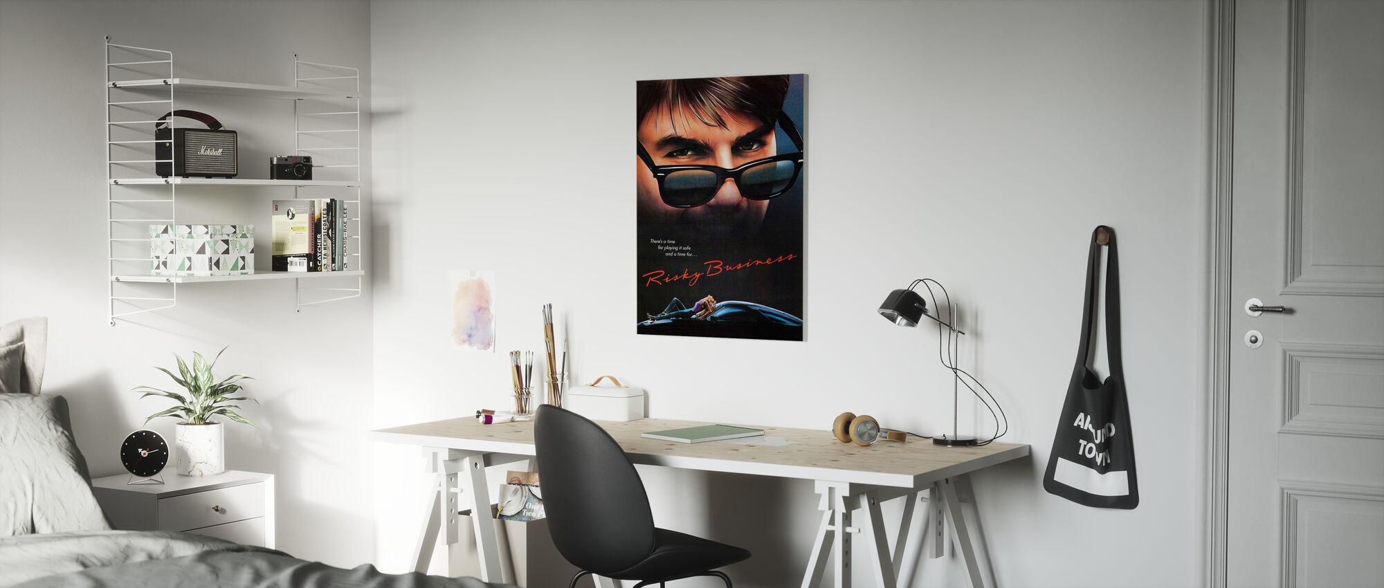 Movie Poster Risky Business - Canvas print - Kids Room
