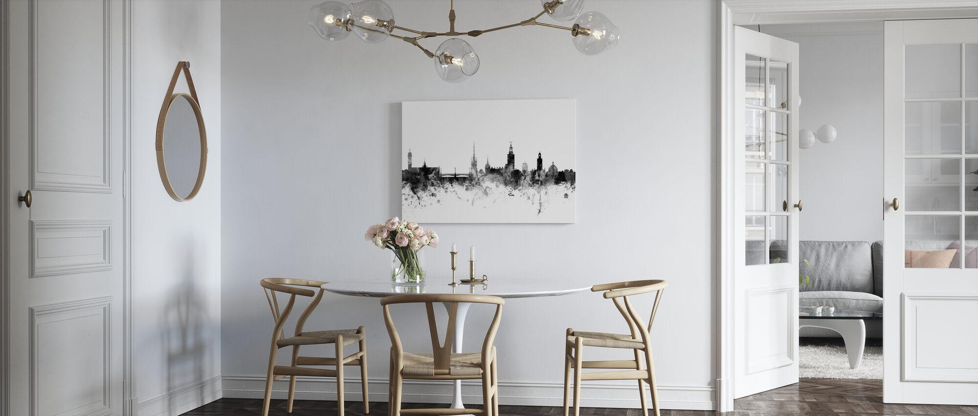 Stockholm Skyline Nero - Stampa su tela - Cucina