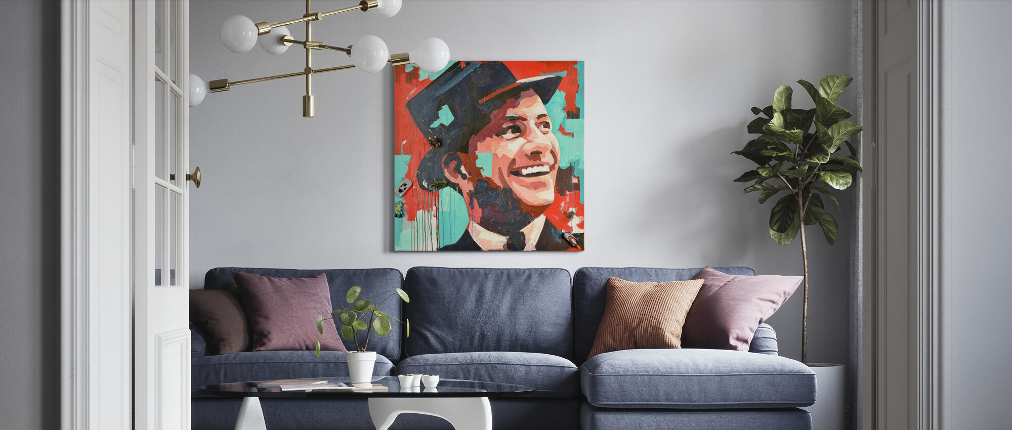 Rat Pack - Canvas print - Living Room
