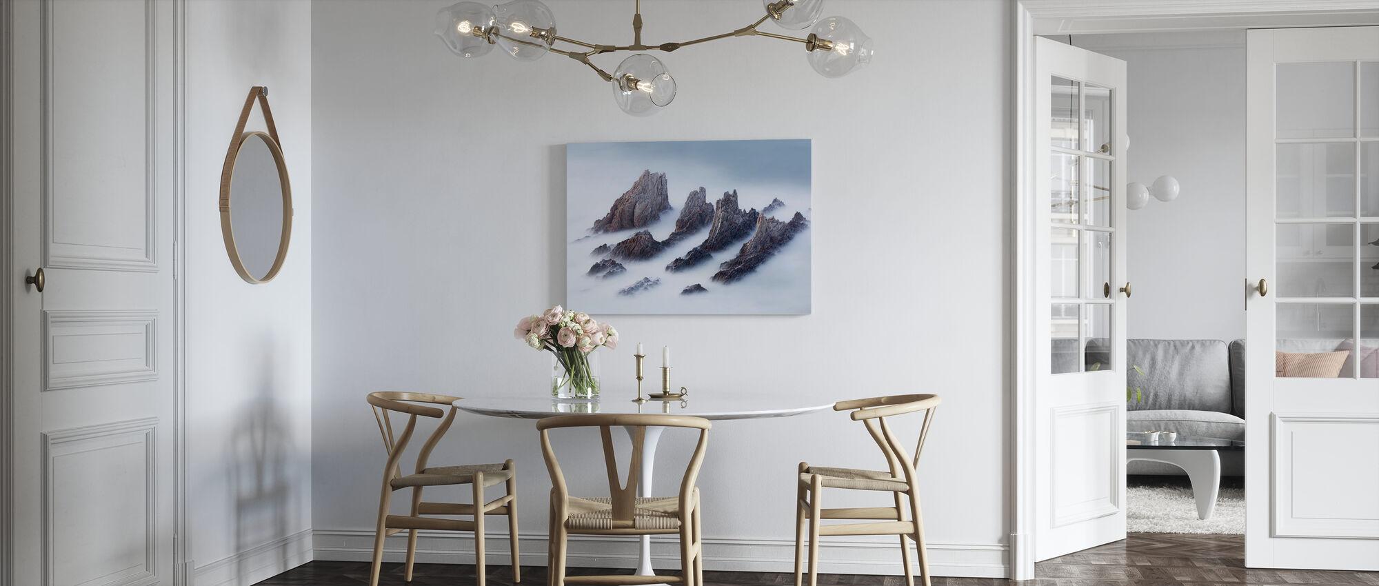 Kuiken en valleien - Canvas print - Keuken