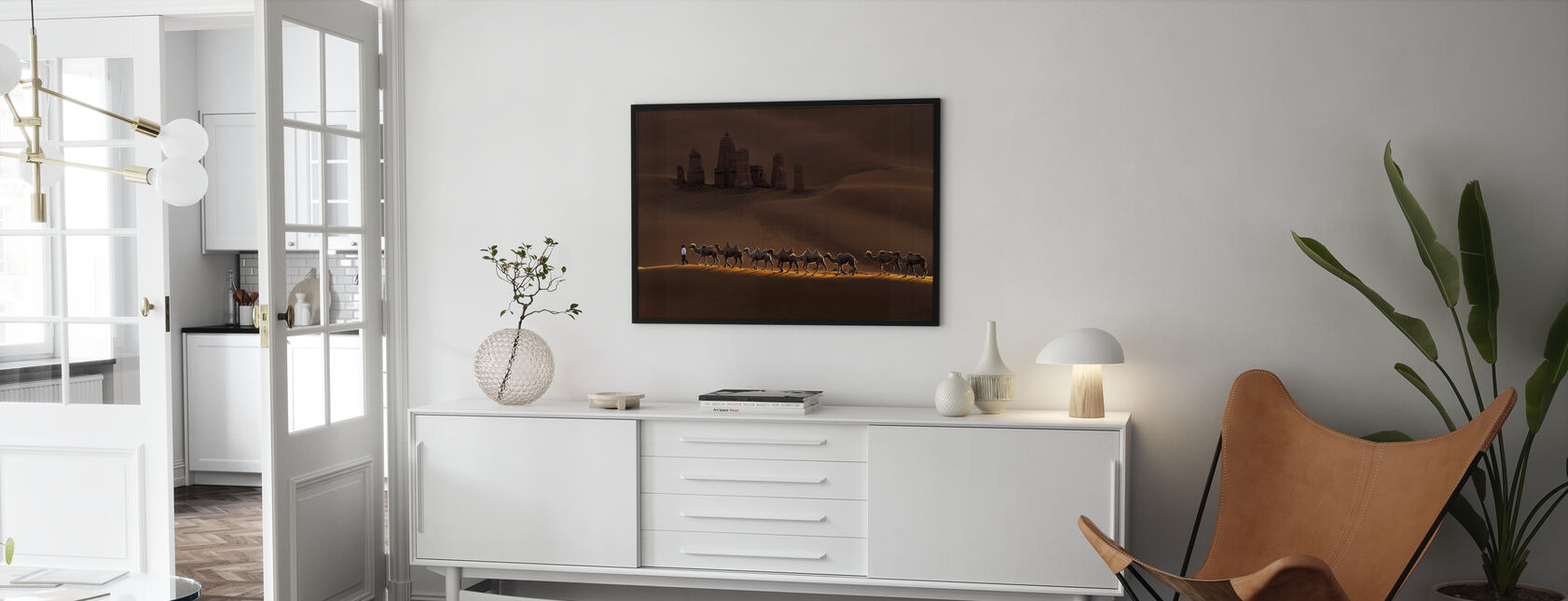 Castle and Camels - Poster - Living Room