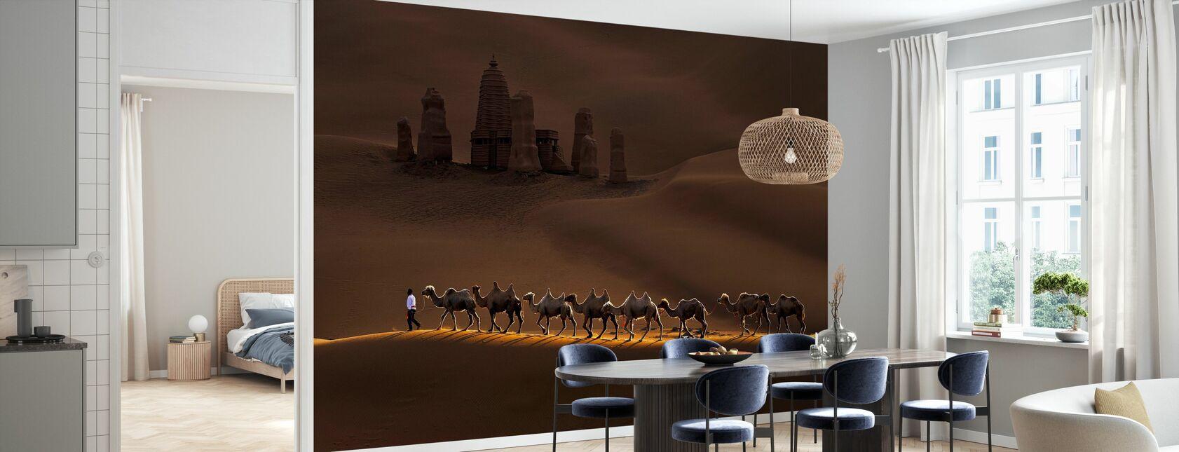 Slot og kameler - Tapet - Køkken