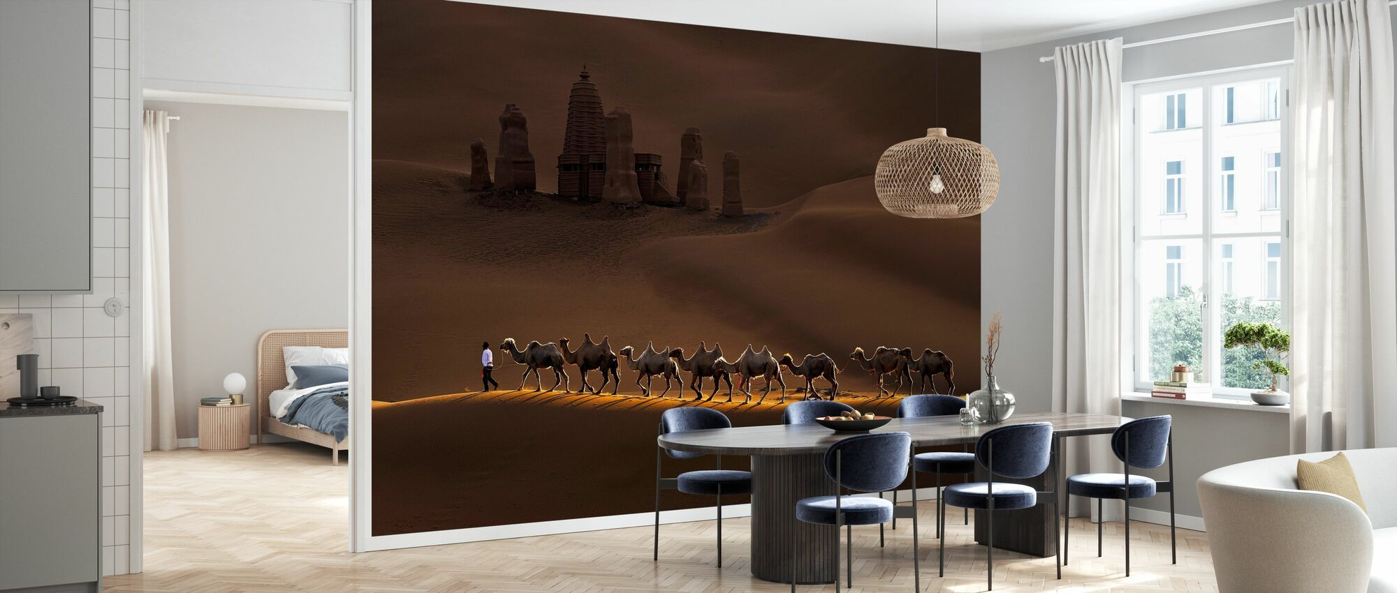 Castle and Camels - Wallpaper - Kitchen