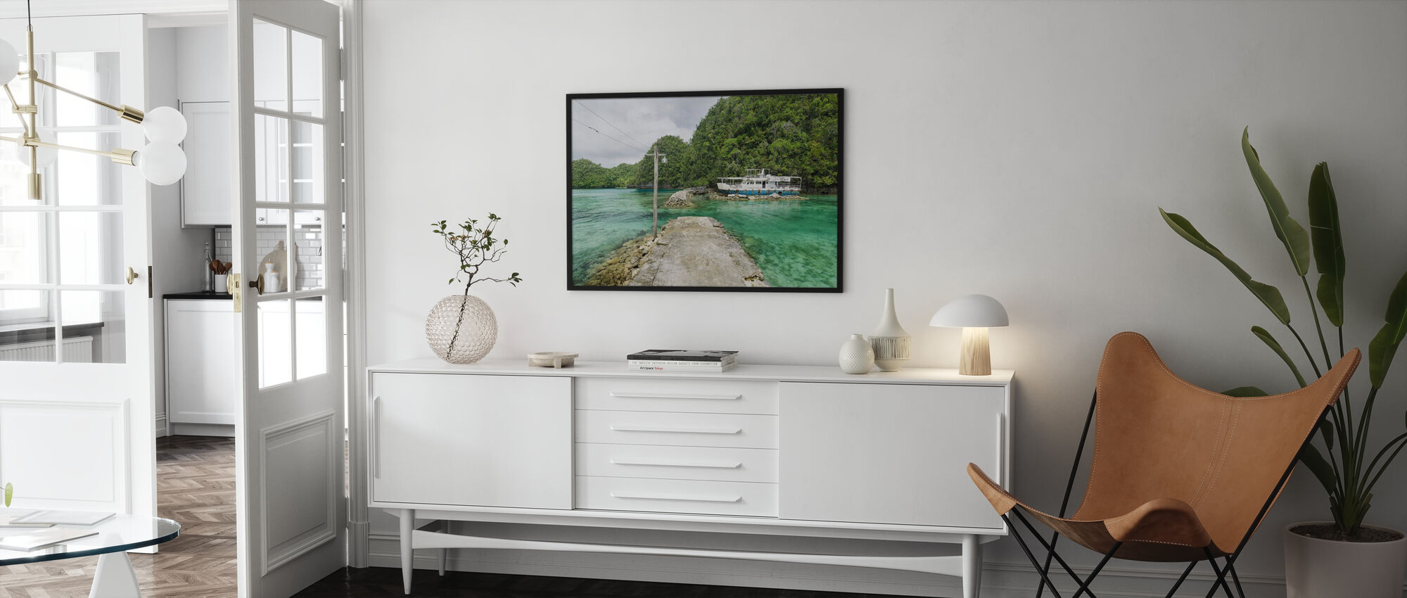 Crystal Clear Waters of Bucas Grande - Poster - Living Room