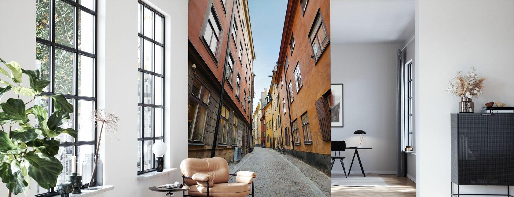 Old Town Street in Stockholm - Tapete - Wohnzimmer