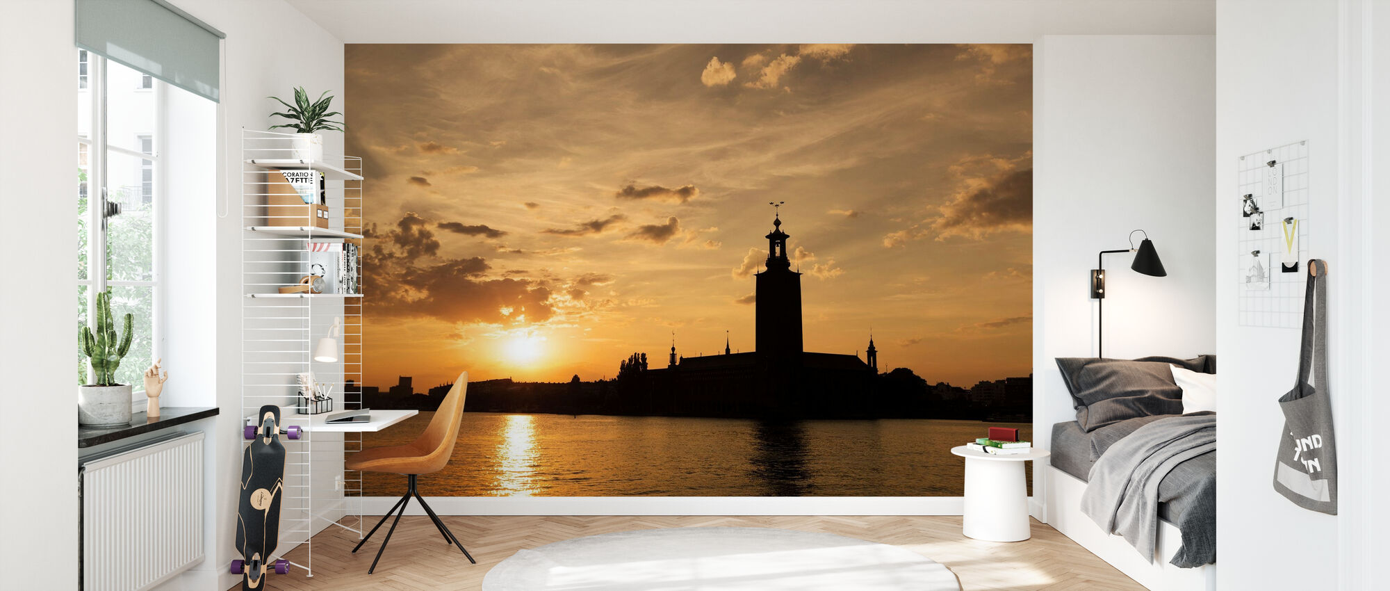 Stockholm City Hall in Silhouette - Wallpaper - Kids Room
