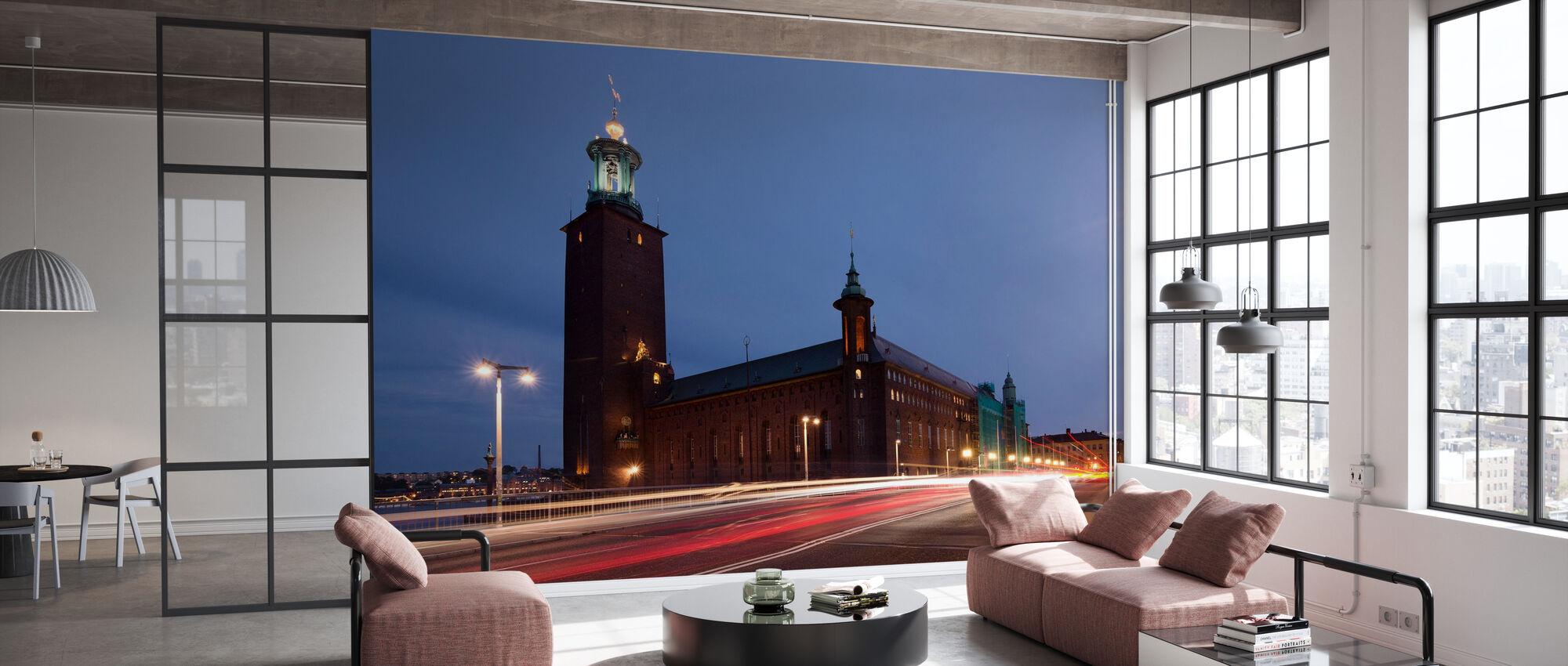 Stockholm Stadshuset Ljus ränder - Tapet - Kontor