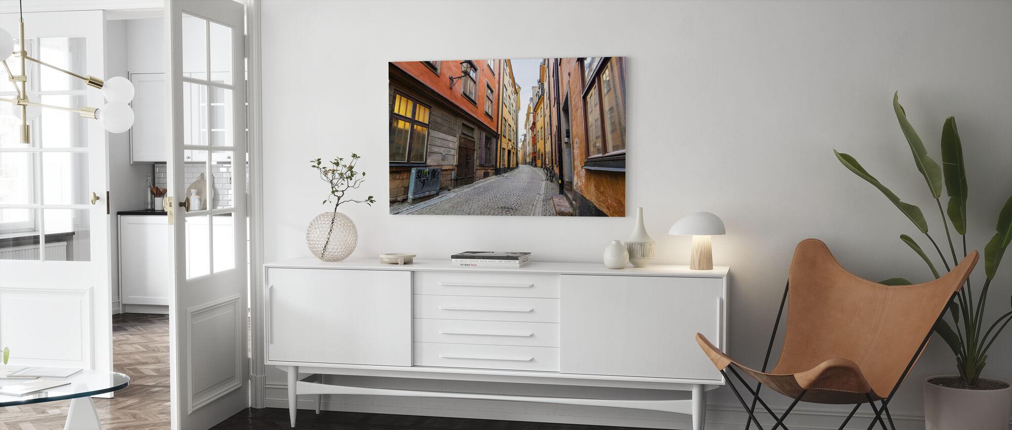 Strada a Gamla Stan Stockholm - Stampa su tela - Salotto
