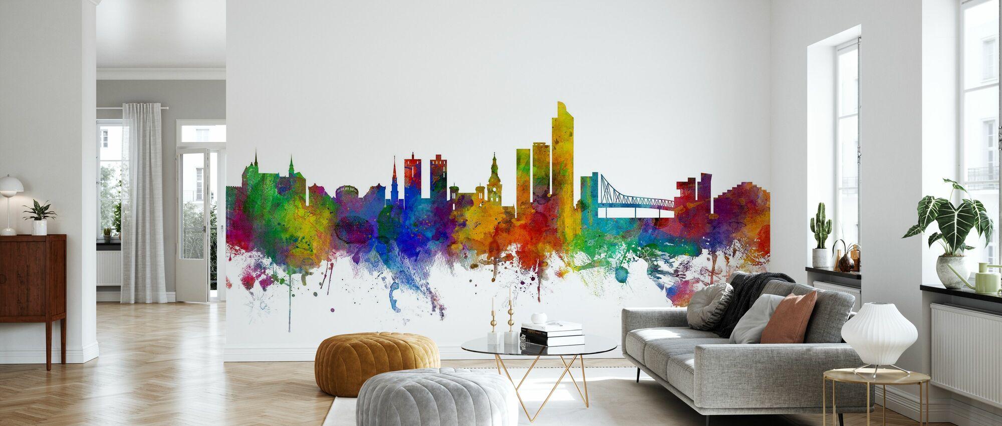 Oslo Skyline - Wallpaper - Living Room
