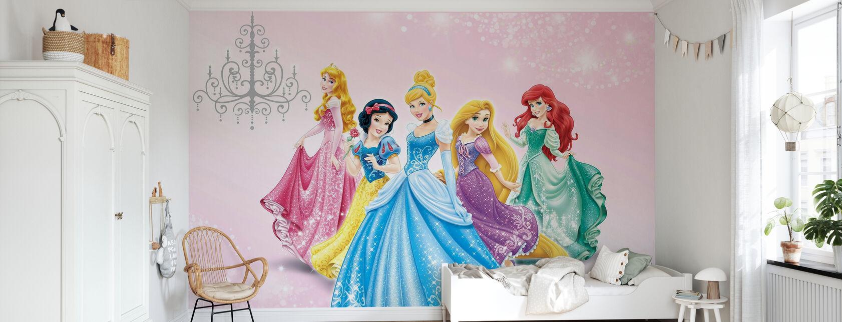 Disney Princess - Rosa - Tapet - Barnrum