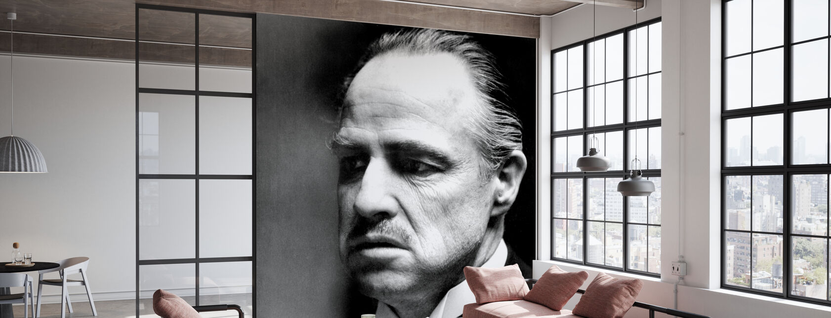 De peetvader - Don Vito Corleone - Behang - Kantoor