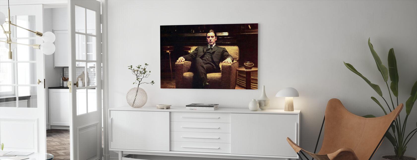 Le Parrain - penché en arrière Michael Corleone - Impression sur toile - Salle à manger
