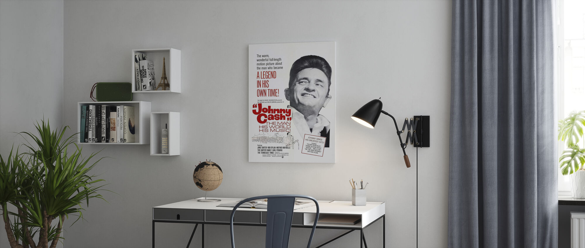 The Man, His World, His Music - Poster art - Canvas print - Office