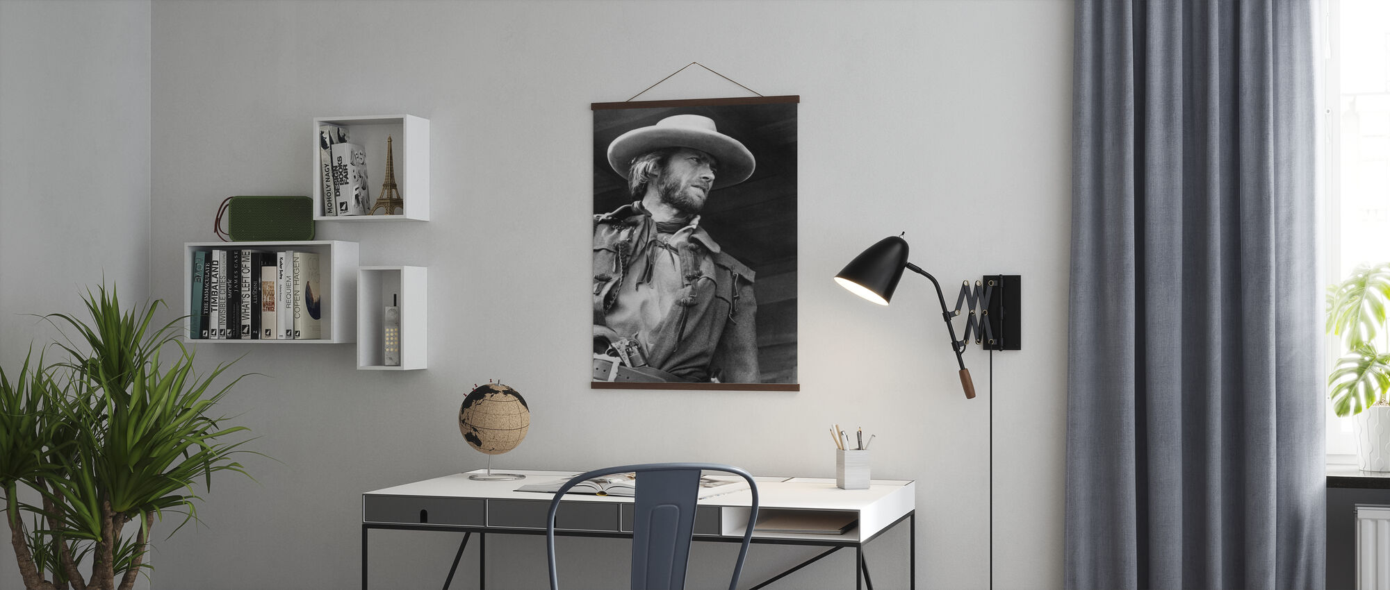 The Outlaw Josey Wales - Grey scale - Poster - Office