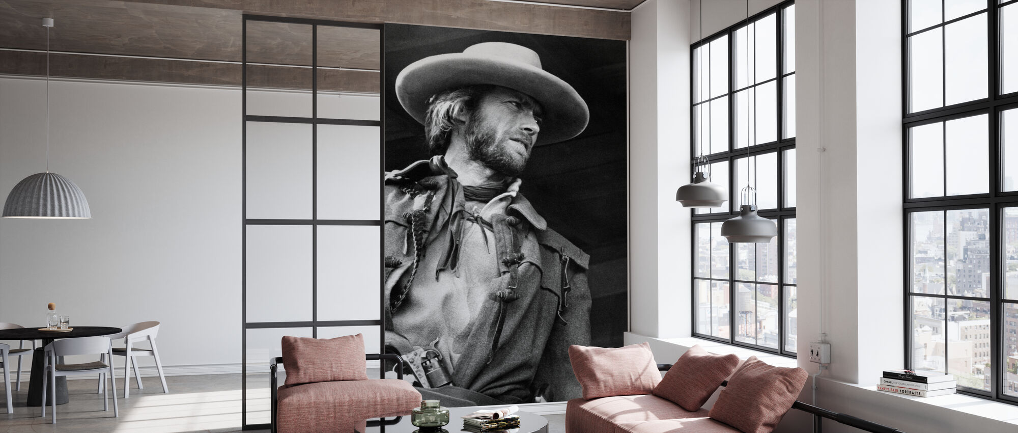The Outlaw Josey Wales - Grey scale - Wallpaper - Office
